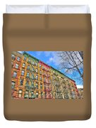 East Village Buildings On East Fourth Street And Bowery Duvet Cover