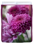 Easter Bouquet Flowers Mums And Dahlia Duvet Cover