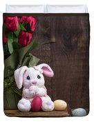 Easter Bunny Card Duvet Cover