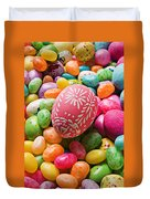 Easter Egg And Jellybeans  Duvet Cover by Garry Gay
