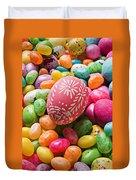 Easter Egg And Jellybeans  Duvet Cover