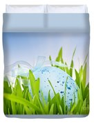 Easter Egg In Grass Duvet Cover by Elena Elisseeva