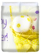 Easter Eggs In Basket Duvet Cover