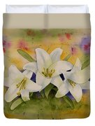 Easter Lilies Duvet Cover