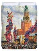Easter Market At The Moscow Kremlin Duvet Cover