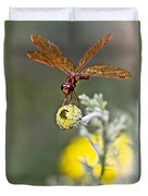 Eastern Amberwing Dragonfly Duvet Cover