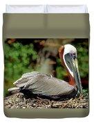 Eastern Brown Pelican Duvet Cover