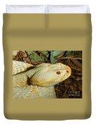 Eastern Diamondback Rattlesnake Albino Duvet Cover