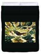 Eastern Diamondback Rattlesnake Duvet Cover
