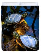 Eastern Painted Turtles Duvet Cover