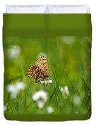 Eastern Pine Elfin Butterfly Duvet Cover