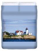 Eastern Point Lighthouse Duvet Cover