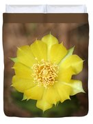 Eastern Prickly Pear Cactus Duvet Cover