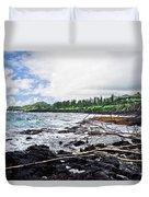 Eastern Shore Of Maui Duvet Cover