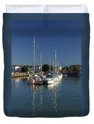 Eastern Side Moorings - Ryde Harbour Duvet Cover