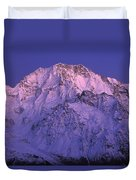 Eastern Side Of Mt Cook Pre-dawn Duvet Cover