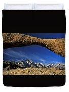 Eastern Sierra Nevada Mountains Lathe Arch Duvet Cover