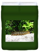 Eastern Tent Caterpillar Duvet Cover