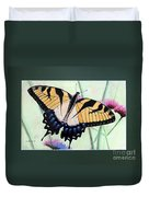 Eastern Tiger Swallowtail Butterfly By George Wood Duvet Cover