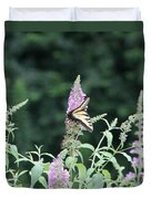 Eastern Tiger Swallowtail Butterfly -  Featured In Wildlife Group Duvet Cover