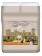 Eastern View Of The Castle And Garden Duvet Cover