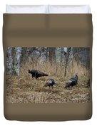 Eastern Wild Turkeys Duvet Cover