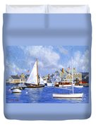 Easy Street Basin Blues Duvet Cover by Candace Lovely