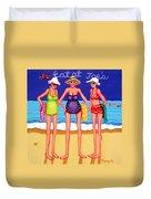Eat At Joes - Beach Gossip Duvet Cover