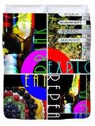 Eat Drink Explore Repeat 20140713 Horizontal Duvet Cover