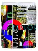 Eat Drink Explore Repeat 20140713 Vertical Duvet Cover