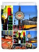 Eat Drink Play Repeat San Francisco 20140713 Vertical V2 Duvet Cover