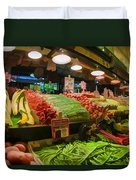 Eat Your Fruits And Vegetables Duvet Cover