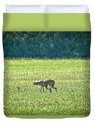 Eating Cranes Duvet Cover