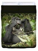 Eating Mountain Gorilla Duvet Cover