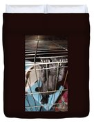 Ebony Hang In There Duvet Cover