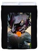 Ebony Iris Duvet Cover