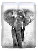 Ebony Ivory African Elephant Duvet Cover