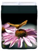 Echinacea And Friend Duvet Cover