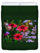 Echinacea And Yarrow Duvet Cover by Omaste Witkowski