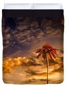 Echinacea Sunset Duvet Cover by Bob Orsillo