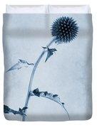 Echinops Ritro 'veitch's Blue' Cyanotype Duvet Cover