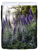 Echium And Tower Duvet Cover