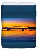Echo Bay Sunset Duvet Cover