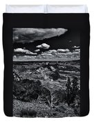 Echo Park From The Ridge Black And White Duvet Cover