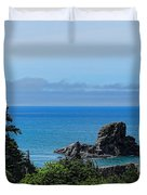 Ecola State Park Overlook  Duvet Cover