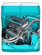 Edelbrock In A Chevy 3100 Hotrod Duvet Cover
