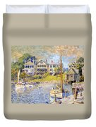 Edgartown  Martha's Vineyard Duvet Cover by Colin Campbell Cooper