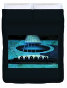 Edgy Abstract Eclectic Guitar 16 Duvet Cover by Andee Design