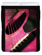 Edgy Pink Guitar  Duvet Cover