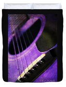 Edgy Purple Guitar  Duvet Cover